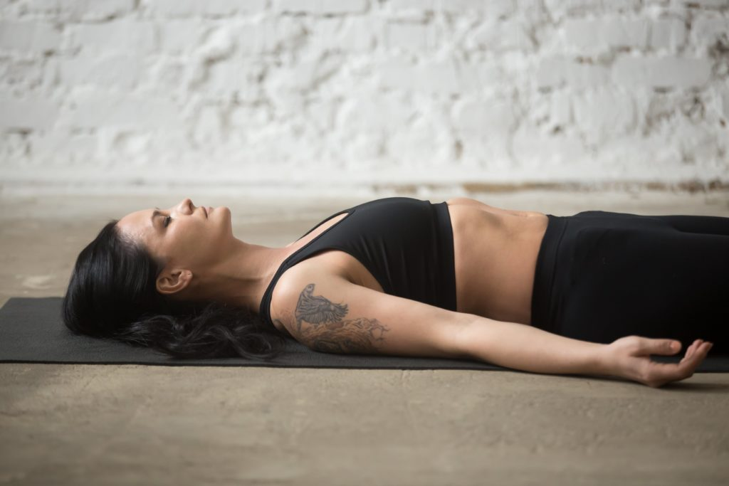 Corpse Pose   Top 9 Yoga poses for stress relief   moveOn 89