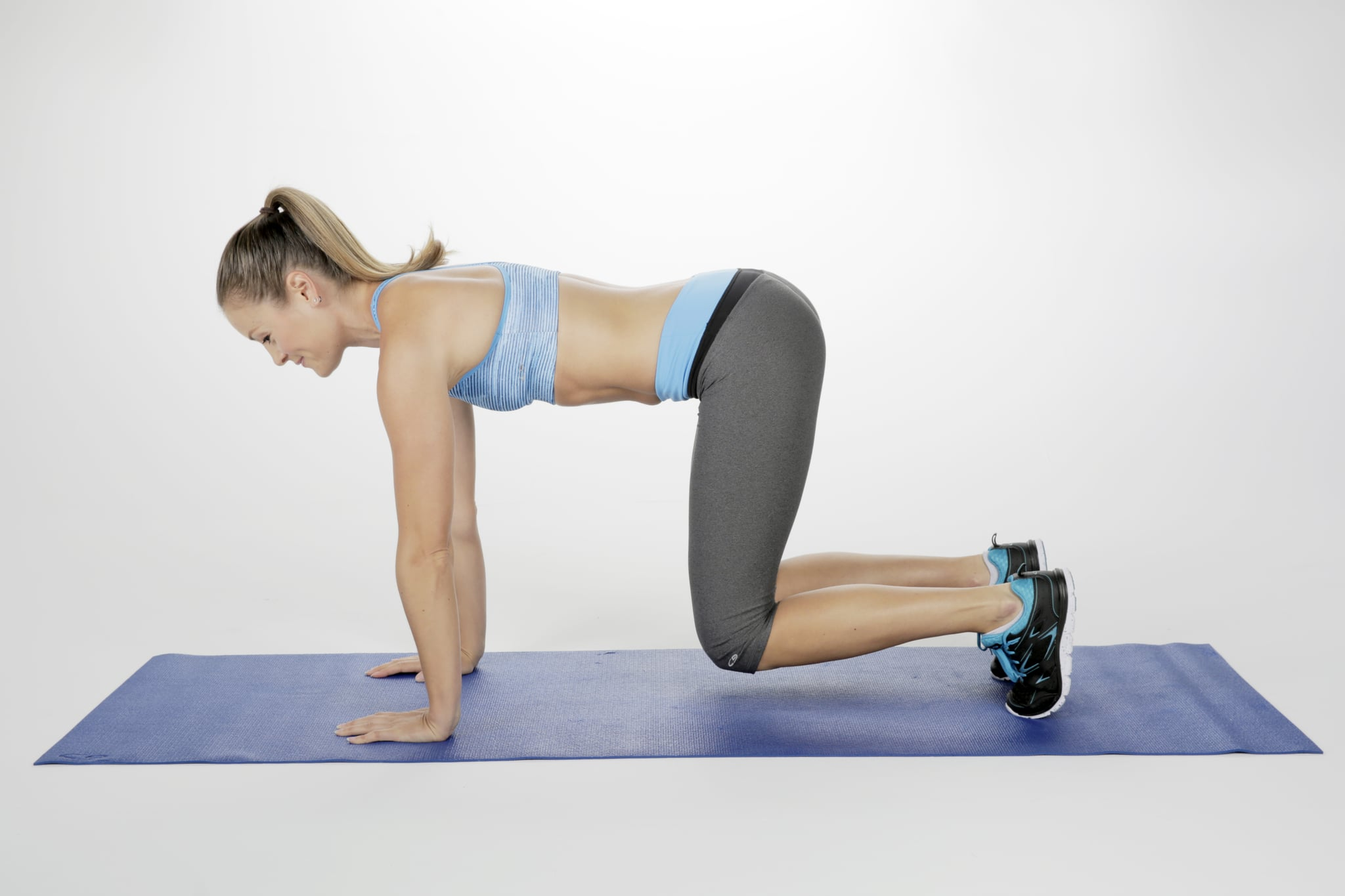 High Plank with Knee-hover